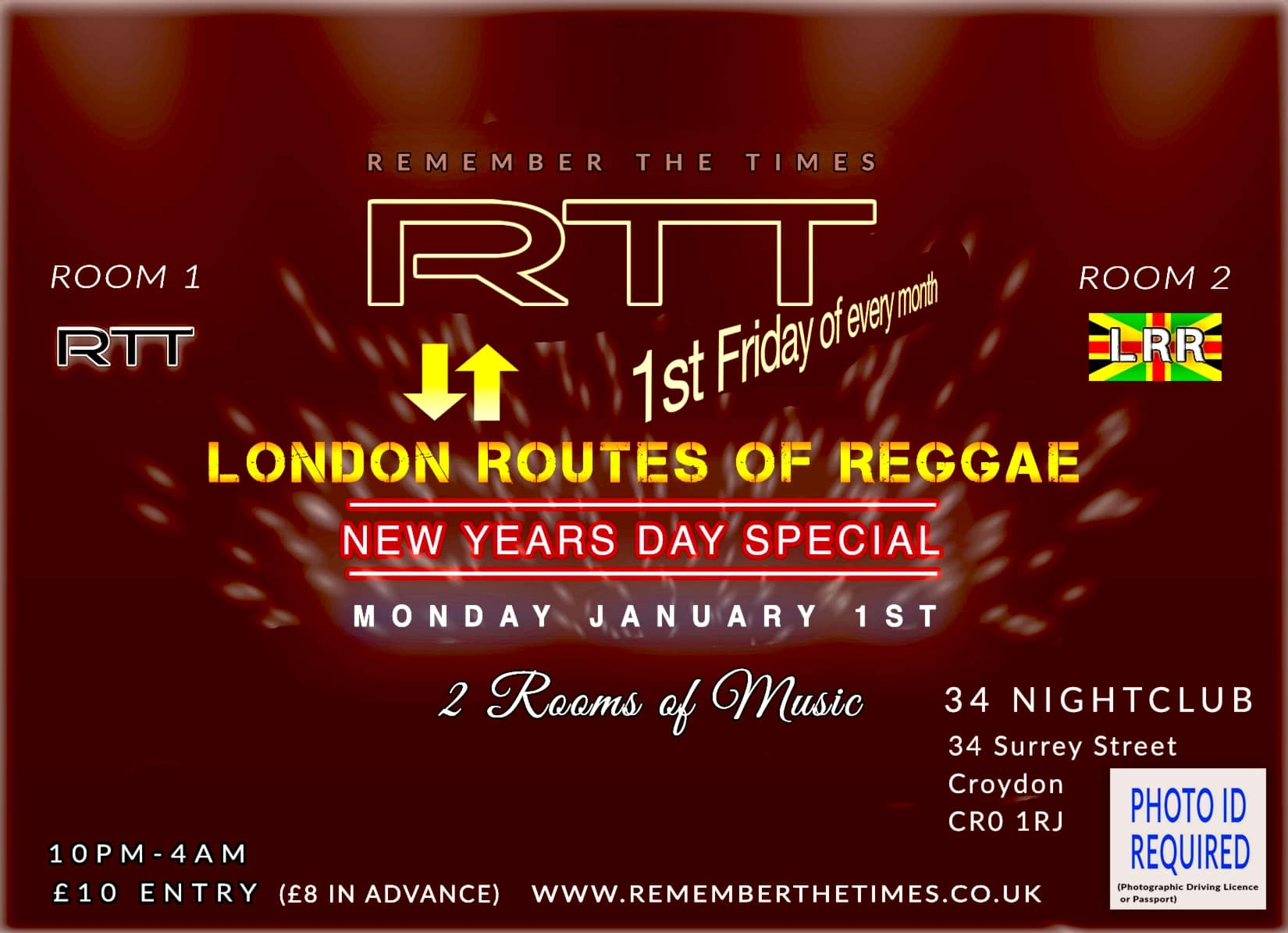 RTT Soul Night & London routes of reggae new years day special
